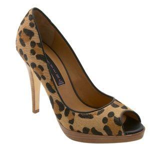 STEVEN Steve Madden Lalo Leopard Peep Toe Heels